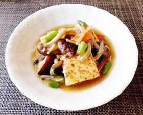 焼き豆腐と茸の生姜風味餡かけ♪