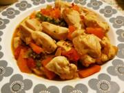 彩野菜と鶏むね肉の塩だれ炒めの写真