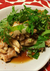 鶏セセリのおろしポン酢和え