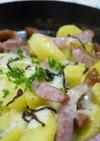 ジャガイモと塩昆布チーズ焼き。