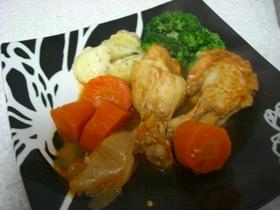 圧力鍋で鶏さんのトマトソース煮込み