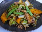 白菜とかぼちゃの回鍋肉の写真