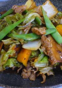 白菜とかぼちゃの回鍋肉
