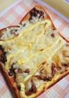 朝食に♪納豆とチーズで簡単トースト♪