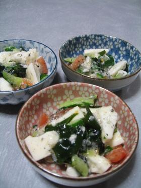山芋と野菜のゴロゴロ和え