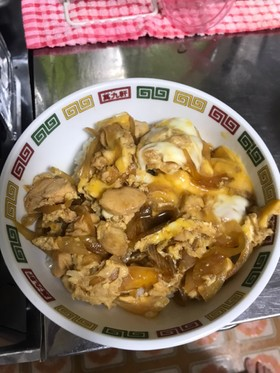 鶏ササミで親子丼
