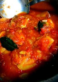 子供もパクパク♡秋刀魚のトマト煮込み