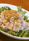 豚しゃぶと春菊のごまだし醤油サラダ