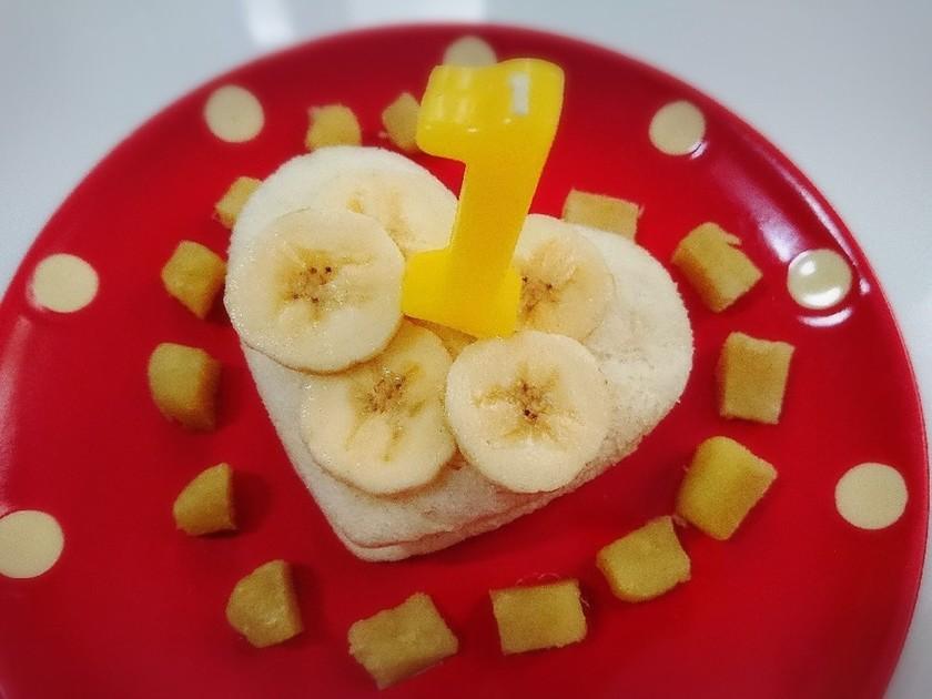 離乳食★ヨーグルトなしの食パンケーキ!