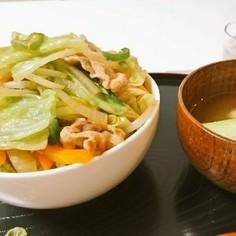 冷蔵庫整理に!野菜たっぷり丼~中華風味~