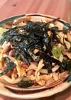 高菜と納豆と卵の焼うどん
