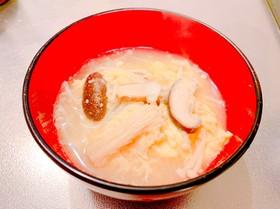 ふわふわ卵と大根とえのきの味噌汁