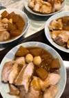 簡単、豚モモブロックの大根煮。