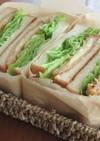 ハムチーズフライのトーストサンド