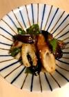 茄子と竹輪とピーマンの胡麻味噌炒め