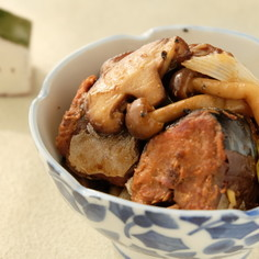 〈薬膳〉きのこのサバ缶味噌炒め