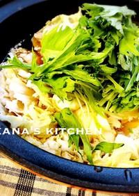 プチッと鍋で白菜と豚バラのミルフィーユ鍋