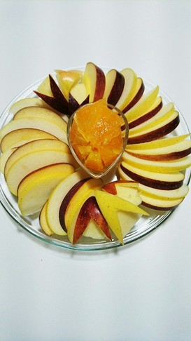 簡単リンゴの盛り付け❤フルーツ盛り合わせ