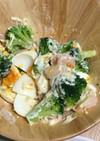 ブロッコリーとエビとたまごのマヨサラダ