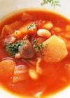 トマト缶で簡単濃厚食べるスープ♪ૢ