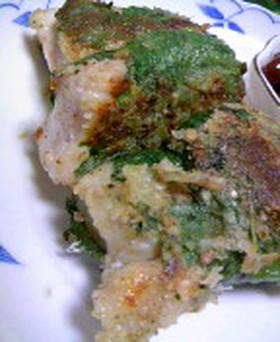 鶏肉の大葉包み焼き
