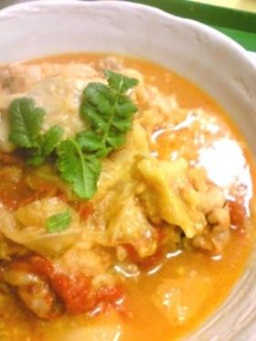 キャベツと鶏肉☆トマト煮込み 圧力鍋使用
