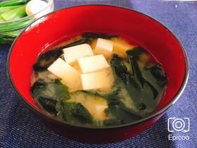 本だしで簡単!基本の豆腐とわかめの味噌汁