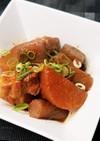 こんにゃくと大根と豚肉の味噌煮