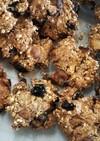油砂糖不使用フルーツオートミールクッキー