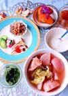 塩豚と赤カブ鍋 常備菜 糖質制限朝食