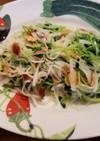 豆苗と大根とアーモンドのサラダ