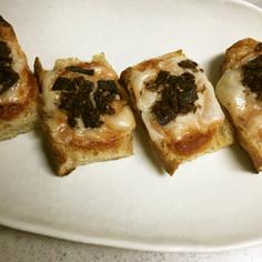 エスニックカリーとおかか昆布のトースト