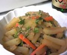 大根とツナの炒め煮