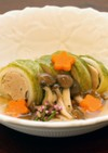 ほっこり優しい、きのこ餡かけのロール白菜