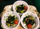 椎茸ときゅうりの辛子醤油和え(^q^)☺