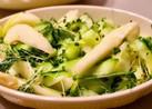 ソフトな食感がおいしい。洋梨と緑のサラダ