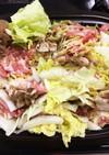 スチームロースターで白菜と豚肉の重ね蒸し