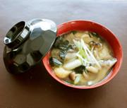 レンジで♪里芋ときのこのとろりん味噌汁の写真