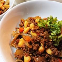 ひき肉と大豆のキーマカレー風