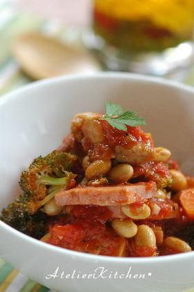鶏肉と大豆のトマト煮込み☆圧力鍋