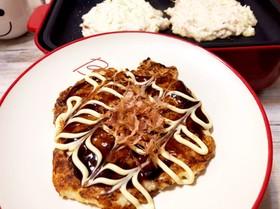 簡単!豆腐でふわふわお好み焼き♡