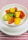 柿とアボカドとトマトのサラダ