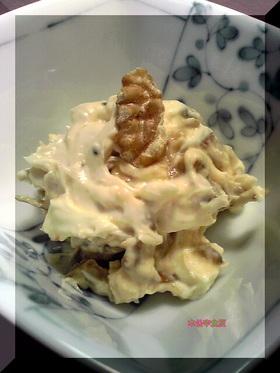 『いかなごのくぎ煮』のクリームチーズ和え