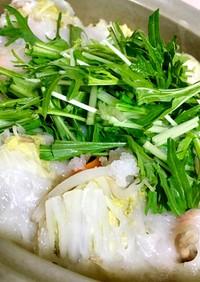 豚肉と白菜の餅入りミルフィーユ鍋