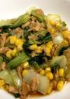 青梗菜とツナのオイスターソース炒め