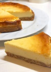 水切YGと牛乳で濃厚ベイクドチーズケーキ