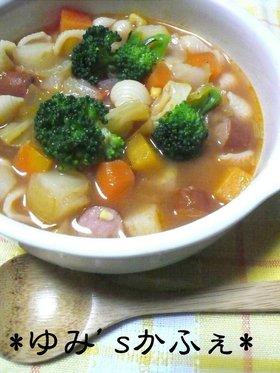 ケチャップで✿簡単ミネストローネ風スープ