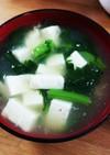 春菊豆腐簡単あったかダイエット中華スープ