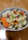 大人の給食☆春野菜の炊き込みご飯