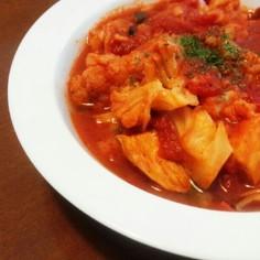 炊飯器で簡単♪鶏肉とカリフラワートマト煮